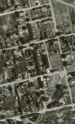 Zdjęcie lotnicze z lat 40.